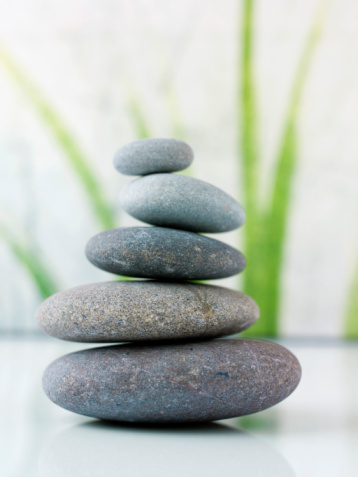 image of stacked rocks for Meditation Rocks